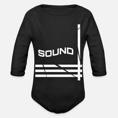 Sound sound - Organic Long-Sleeved Baby Bodysuit
