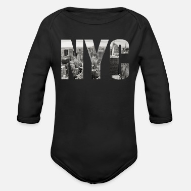 New York City New York City - Langærmet babybody, økologisk bomuld