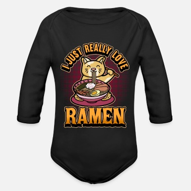 Gaming Rolig anime Ramen Cats Life Saying Gift - Ekologisk långärmad babybody