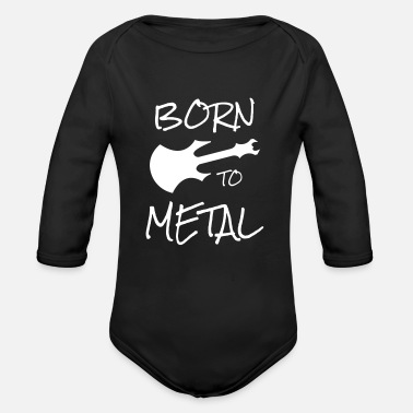 Rock N Roll Rock / Metal / Punk / Rock 'n' Roll - Baby bio-rompertje met lange mouwen