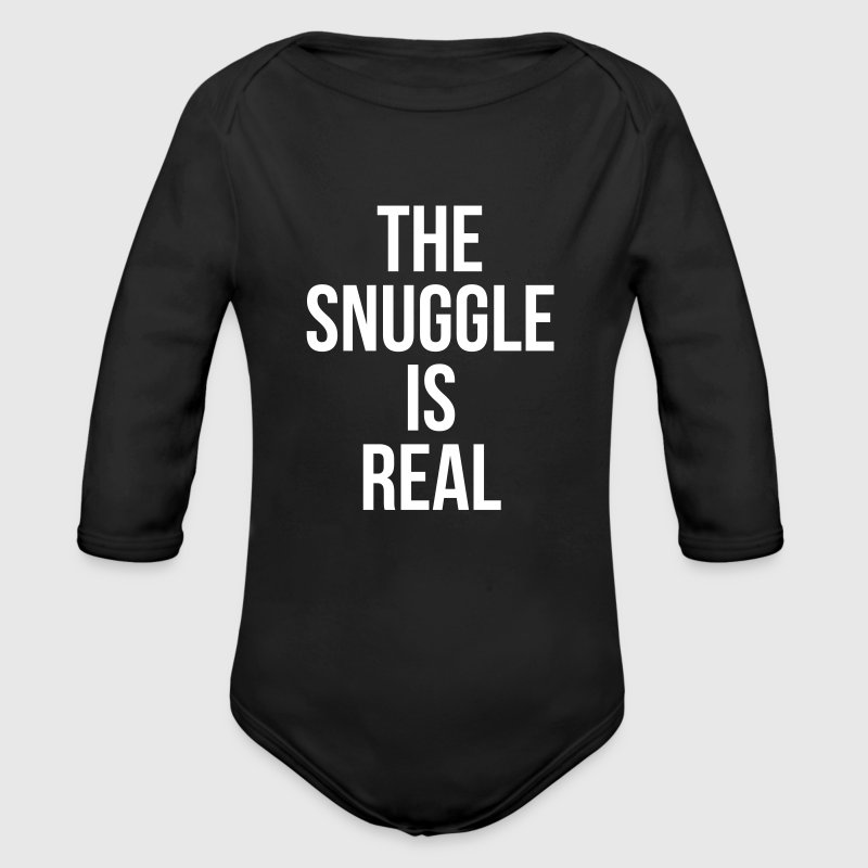 The snuggle is real - Økologisk langermet baby-body