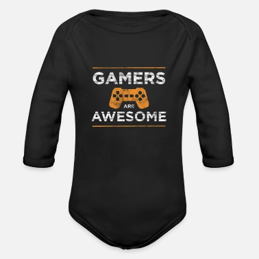 Gamer Gamers are awesome gamers - Organic Long-Sleeved Baby Bodysuit