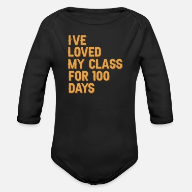 100 days graduation - Organic Long-Sleeved Baby Bodysuit
