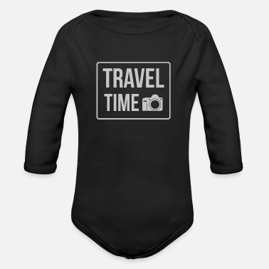 Travel Clothing Travel time - Organic Long-Sleeved Baby Bodysuit