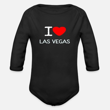 Vegas I LOVE LAS VEGAS - Organic Long-Sleeved Baby Bodysuit