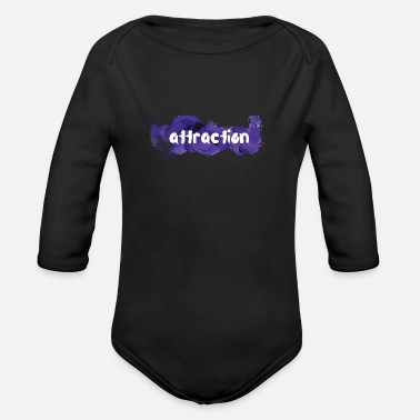Attractive attraction attraction - Organic Longsleeve Baby Bodysuit
