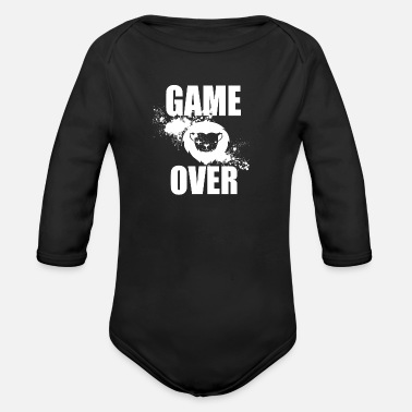 Game Over Gamer - Game Over - Økologisk langærmet babybody