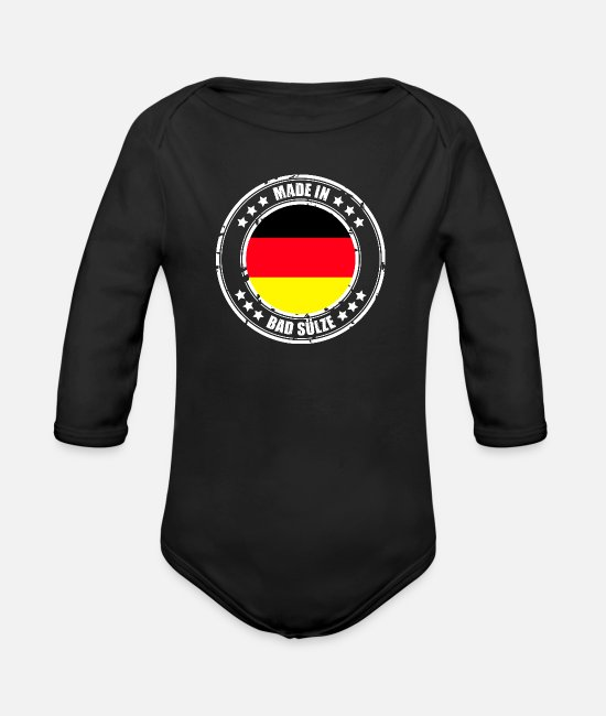 IN Baby Clothes - BAD SLEEVE - Organic Long-Sleeved Baby Bodysuit black