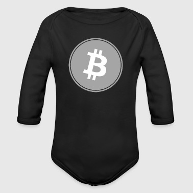 Bitcoin in Gray color. - Organic Longsleeve Baby Bodysuit