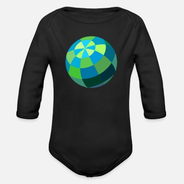 Ball ball - Organic Long-Sleeved Baby Bodysuit