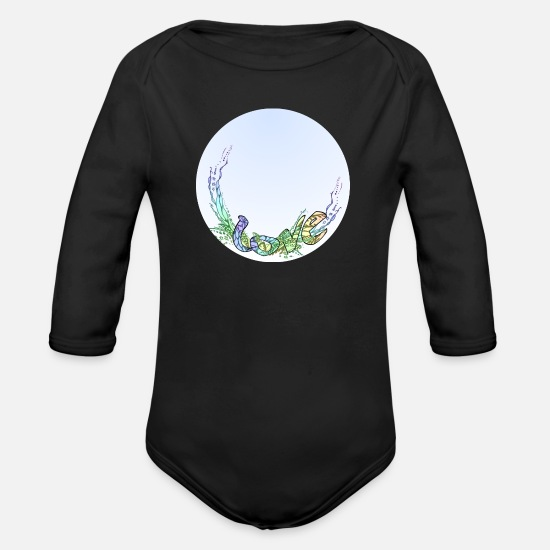Love Baby Clothes - LOVE Personalizable Romantic - Organic Long-Sleeved Baby Bodysuit black