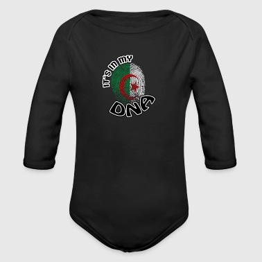Gift Its in my dna dns roots Algeria - Organic Longsleeve Baby Bodysuit
