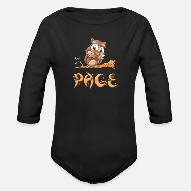 Page Owl page - Organic Long-Sleeved Baby Bodysuit