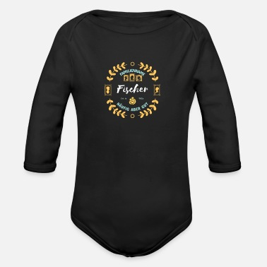 Surname Fischer surname - Organic Long-Sleeved Baby Bodysuit