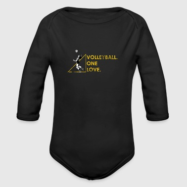 Volleyball Gift Beach Volleyball Volleyballer - Organic Longsleeve Baby Bodysuit