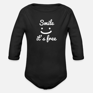 Statement statement - Organic Long-Sleeved Baby Bodysuit