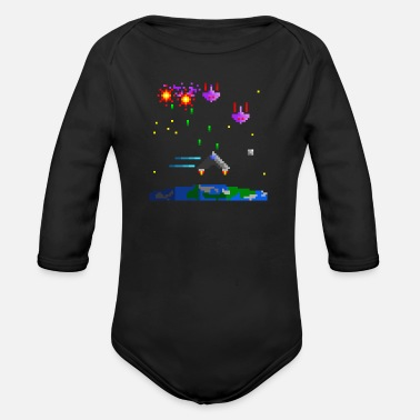 Defender Earth Defender - Organic Longsleeve Baby Bodysuit
