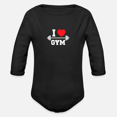 Workout Fitness Workout Workout Gym Spieren - Baby bio-rompertje met lange mouwen