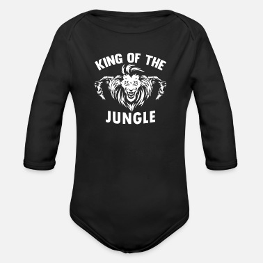 Jungle Lion jungle jungle cadeau - Baby bio-rompertje met lange mouwen