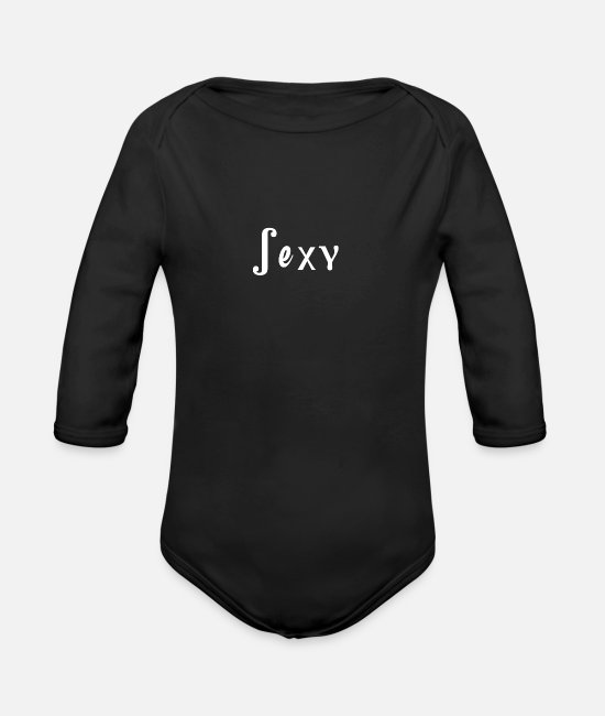 Hot Girl Baby Bodysuits - Sexy - Organic Long-Sleeved Baby Bodysuit black