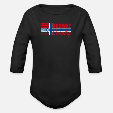 Norway Norway Norway - Organic Long-Sleeved Baby Bodysuit