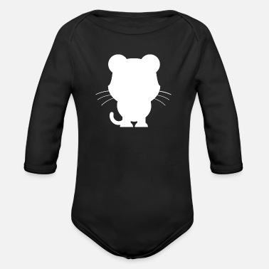 Animal Animals Animals Animal Print Nature - Organic Long-Sleeved Baby Bodysuit