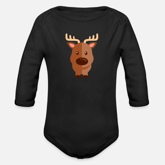 Animal Planet Baby Clothes - Animals Animals Animal Print Nature 10 - Organic Long-Sleeved Baby Bodysuit black