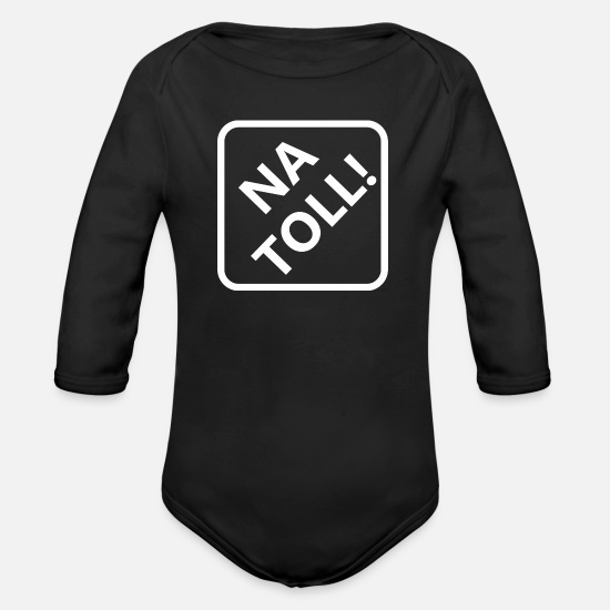 Birthday Baby Clothes - Na mad saying sayings funny gift idea - Organic Long-Sleeved Baby Bodysuit black