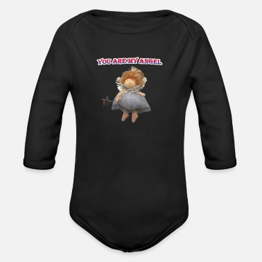You are my angel. - Organic Long-Sleeved Baby Bodysuit