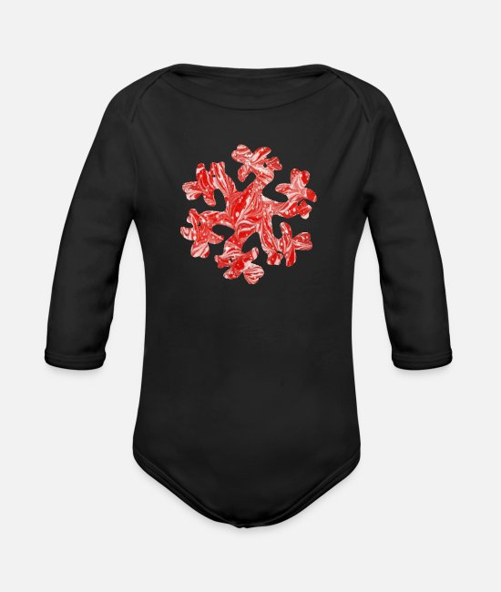 Artsy Baby Bodysuits - Caucasian ornament 8 e 9 - Organic Long-Sleeved Baby Bodysuit black