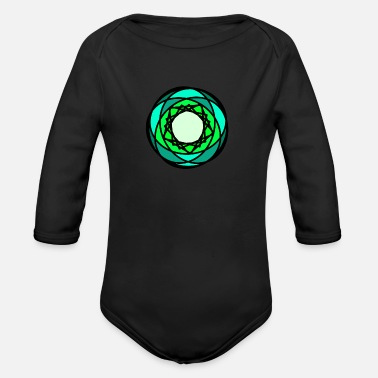 Logo logo - Organic Long-Sleeved Baby Bodysuit