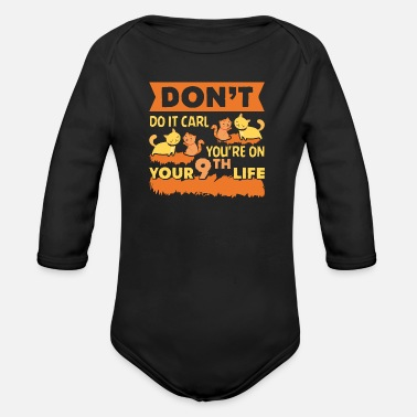 Cat kitty cat lady gift Carl - Organic Long-Sleeved Baby Bodysuit