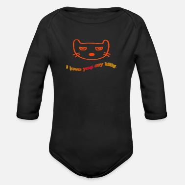 Kitty kitty - Organic Long-Sleeved Baby Bodysuit