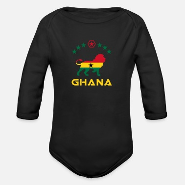 Takoradi Ghana lion design / gift idea - Organic Long-Sleeved Baby Bodysuit