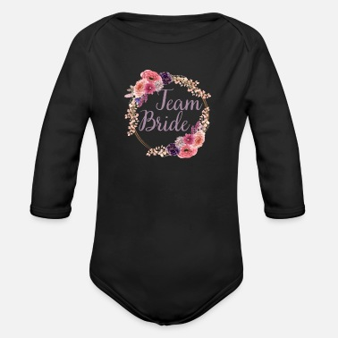 Night Team Bride Bachelor Party Gift - Organic Long-Sleeved Baby Bodysuit