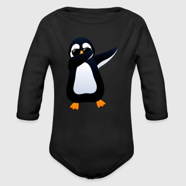 Dabbing Penguin With Sunglasses - Cool Gift - Baby Bio-Langarm-Body