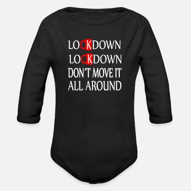 Lockdown-Don´t move it al around Corona-Virus-V3 - Organic Long-Sleeved Baby Bodysuit