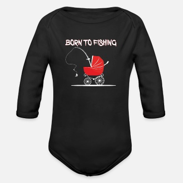 Pesca BORN_TO_FISHING_BLACK_PNG - Body a manica lunga per neonati
