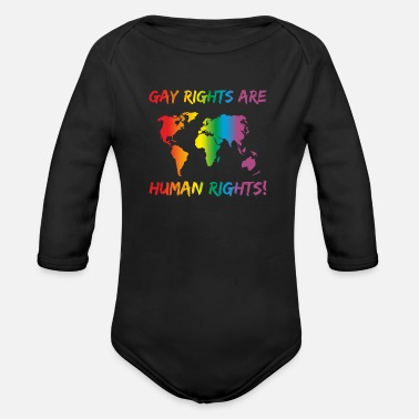 Gay Rights LGBT Gay Rights Are Human Rights - Organic Long-Sleeved Baby Bodysuit