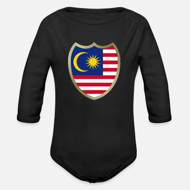 Coat Of Arms Malaysia (Coat of Arms) - Body a manica lunga per neonati