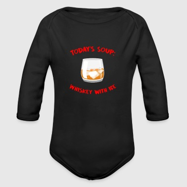 Whiskey - Today's Soup: Whiskey with Ice - Organic Longsleeve Baby Bodysuit