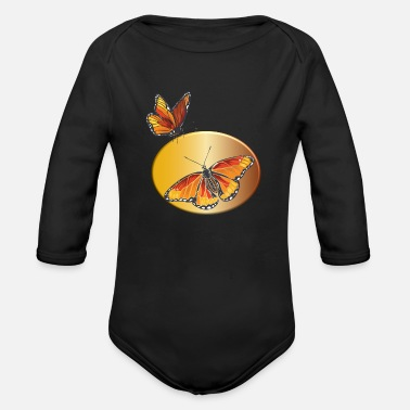 Monarch Monarch Butterfly - Organic Long-Sleeved Baby Bodysuit