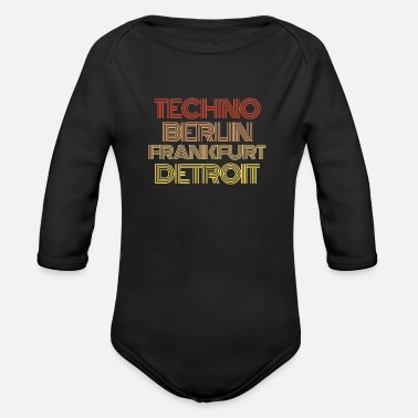 Electronics Techno Musician Music Synthesizer keyboard - Organic Long-Sleeved Baby Bodysuit