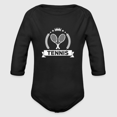 Tennis - Sport - Ball - Player - Game -  Sportsman - Baby bio-rompertje met lange mouwen