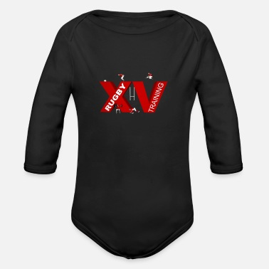 Lyon Rugby Toulousain XV TRAINING - Organic Long-Sleeved Baby Bodysuit