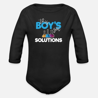 Periodic Science Is Chemist For Boys Researchers - Organic Long-Sleeved Baby Bodysuit