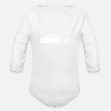 Electric Car electric car - Organic Long-Sleeved Baby Bodysuit