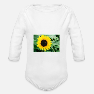 Bee and sunflower - Baby Bio Langarmbody