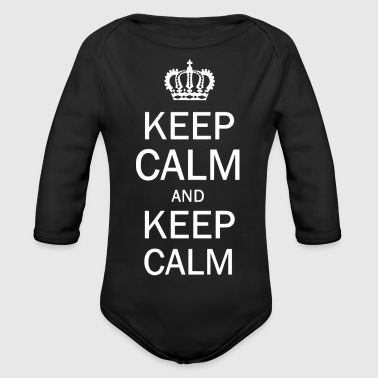 Keep Calm and Keep Calm - Ekologisk långärmad babybody