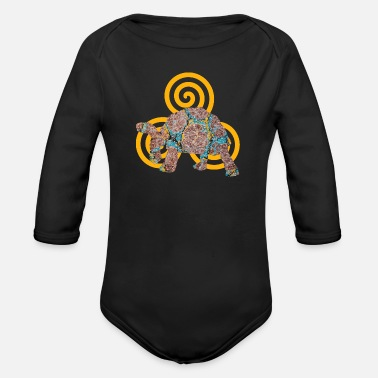 Artist turtle e 64 with triskele - Organic Long-Sleeved Baby Bodysuit